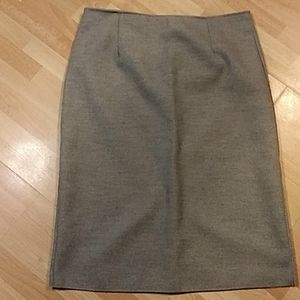 Gray, Wool Plus Size Skirt w/invisible zipper, 2X